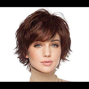 New Arrival Natural Human Hair Auburn Short wig